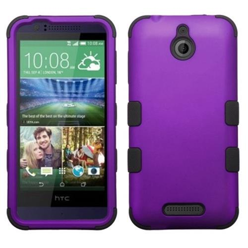 Insten Hard Hybrid Rubber Coated Silicone Case For HTC Desire 510, Purple/Black