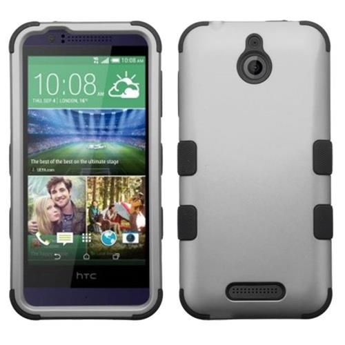 Insten Hard Hybrid Silicone Cover Case For HTC Desire 510, Gray/Black