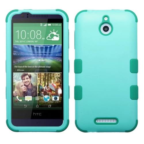 Insten Tuff Hard Dual Layer Rubber Silicone Case For HTC Desire 510, Teal