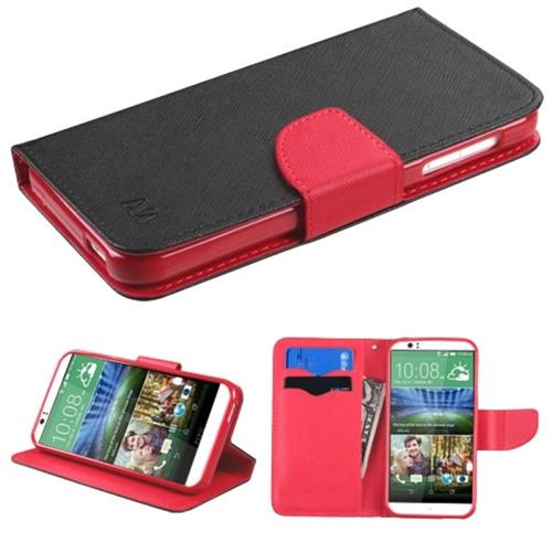 Insten Fitted Soft Shell Case for HTC Desire 510 - Black/Red