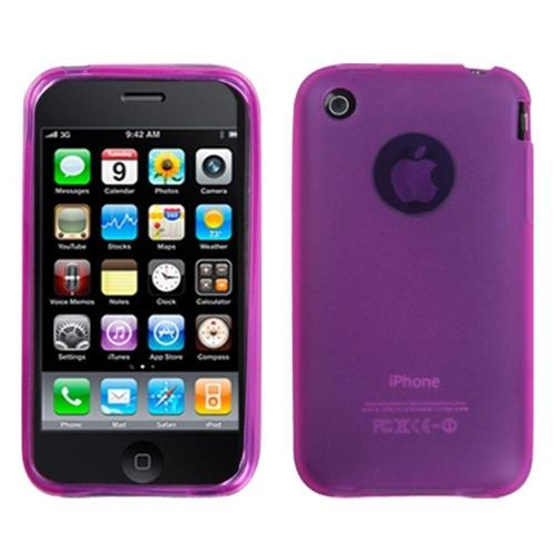 Insten Jelly Gel Transparent Cover Case For Apple iPhone 3G/3GS, Pink