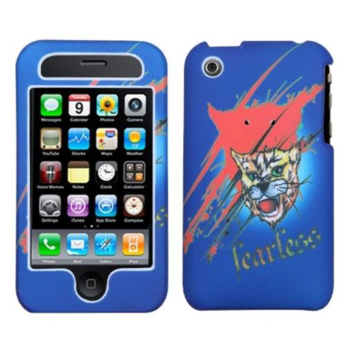 Insten Bobcat Hard Rubber Case For Apple iPhone 3G/3GS, Blue