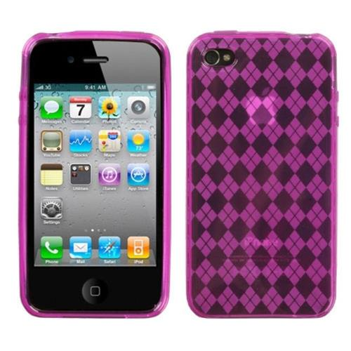 Insten Argyle TPU Case For Apple iPhone 4/4S, Pink
