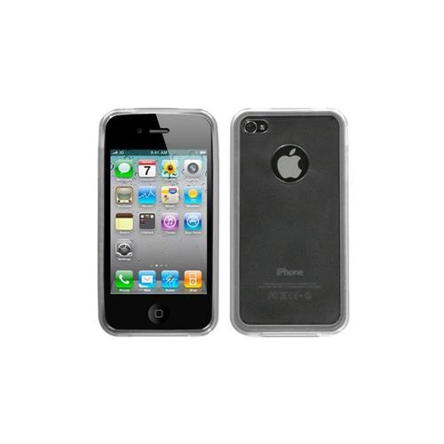 Insten Gel Transparent Crystal Case For Apple iPhone 4/4S, Smoke