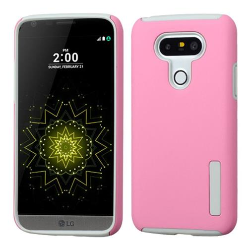 Insten Fitted Soft Shell Case for LG G5 - Pink/Gray