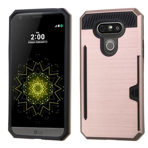 Insten Fitted Soft Shell Case for LG G5 - Rose Gold/Black