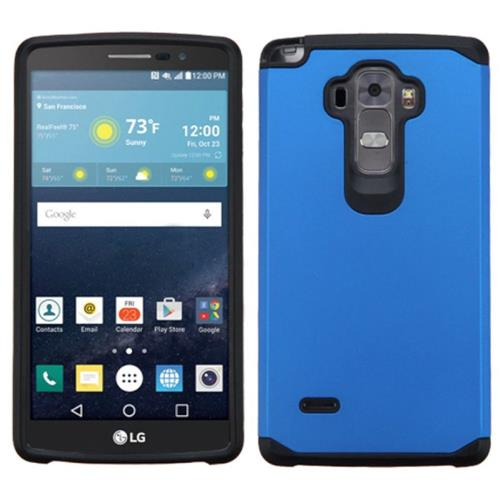 Insten Hard Dual Layer Rubberized Silicone Cover Case For LG G Stylo/G Vista 2, Blue/Black