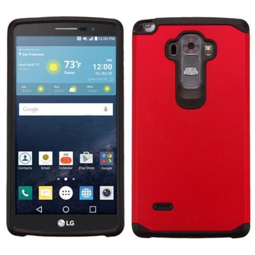 Insten Hard Hybrid Rubber Silicone Case For LG G Stylo/G Vista 2, Red/Black