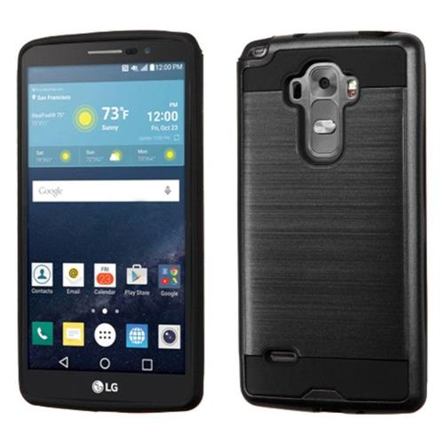 Insten Hard Hybrid Rubber Coated Silicone Cover Case For LG G Stylo/G Vista 2, Black