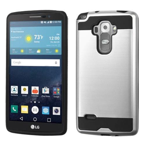 Insten Hard Hybrid Silicone Case For LG G Stylo/G Vista 2, Silver/Black