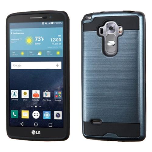 Insten Hard Dual Layer Rubber Coated Silicone Cover Case For LG G Stylo/G Vista 2, Blue/Black