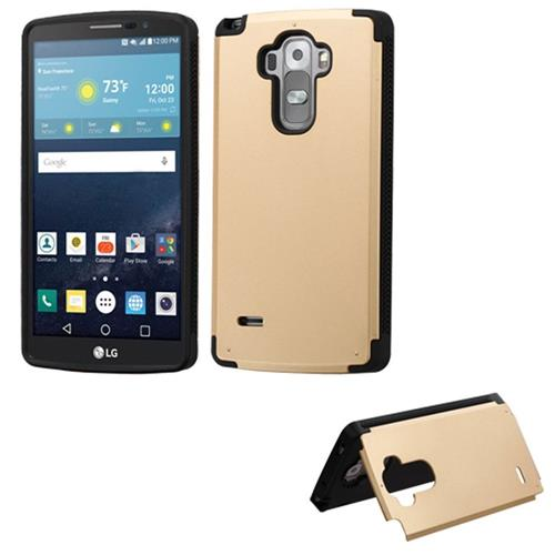 Insten Hard Rubber Case w/card holder For LG G Stylo/G Vista 2, Gold