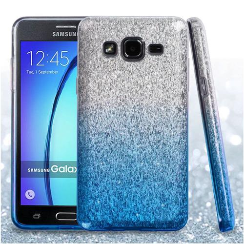 Insten Hard Hybrid Glitter TPU Cover Case For Samsung Galaxy On5, Blue/White