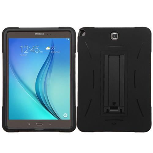 Insten Symbiosis Rubber Hybrid Hard Case w/stand For Samsung Galaxy Tab A 9.7, Black