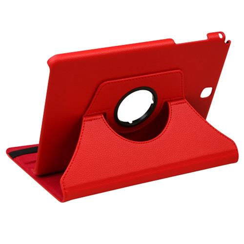 Insten Swivel Flip Leather Fabric Cover Case w/stand For Samsung Galaxy Tab A 9.7, Red