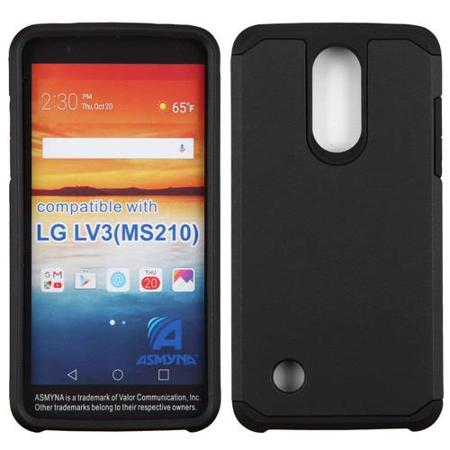 Insten Hard Dual Layer TPU Case For LG Aristo/LV3, Black