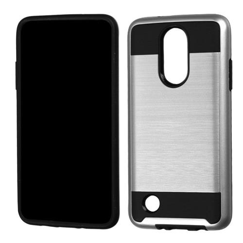 Insten Hard Hybrid TPU Case For LG LV3, Silver/Black