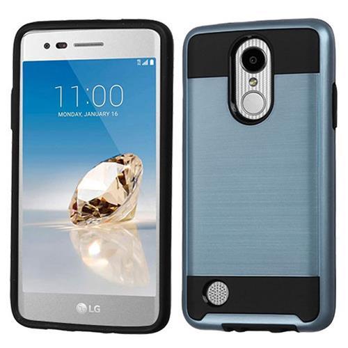 Insten Hard Hybrid TPU Cover Case For LG Aristo/LV3, Blue/Black