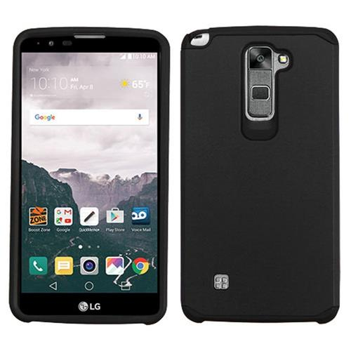 Insten Hard Hybrid Silicone Cover Case For LG Stylo 2 Plus, Black