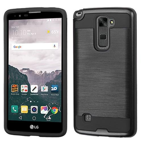 Insten Hard Hybrid TPU Cover Case For LG Stylo 2 Plus, Black