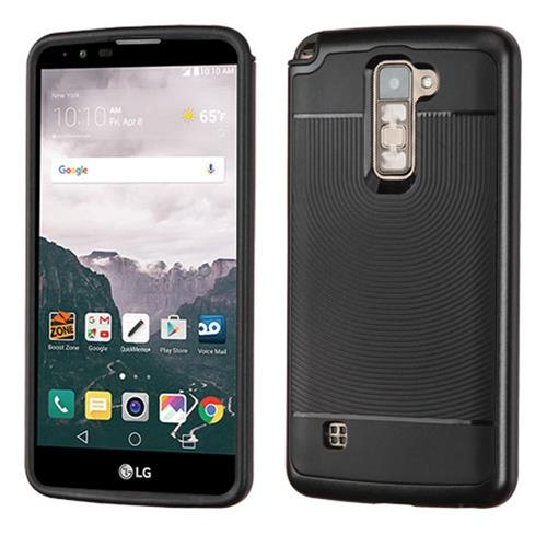 Insten Hard Dual Layer TPU Case For LG Stylo 2 Plus, Black