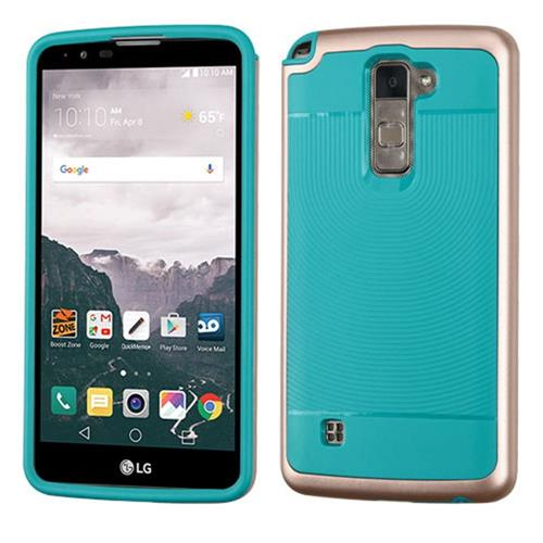 Insten Hard Dual Layer TPU Cover Case For LG Stylo 2 Plus, Rose Gold/Teal