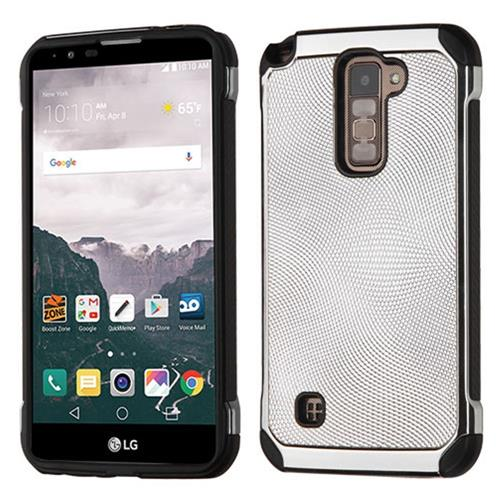 Insten Hard Hybrid TPU Cover Case For LG Stylo 2 Plus, Silver/Black