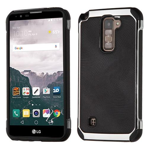Insten Hard Dual Layer TPU Case For LG Stylo 2 Plus, Black/Silver