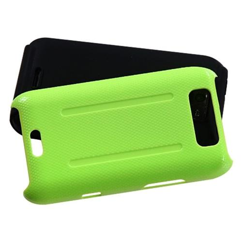 Insten Fusion Hard Hybrid Silicone Cover Case For LG Connect 4G/Viper, Green