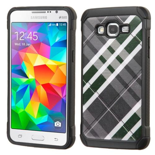 Insten Fitted Soft Shell Case for Samsung Galaxy Grand Prime - Black/White