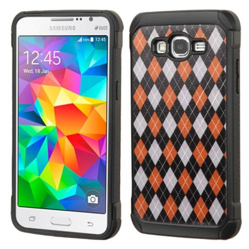 Insten Argyle Hard Hybrid Rubber Silicone Cover Case For Samsung Galaxy Grand Prime, Colorful