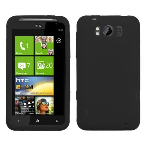 Insten Soft Rubber Cover Case For HTC Titan, Black