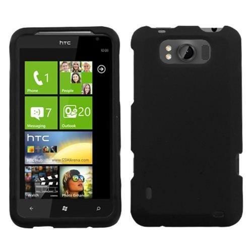 Insten Hard Rubber Coated Case For HTC Titan, Black