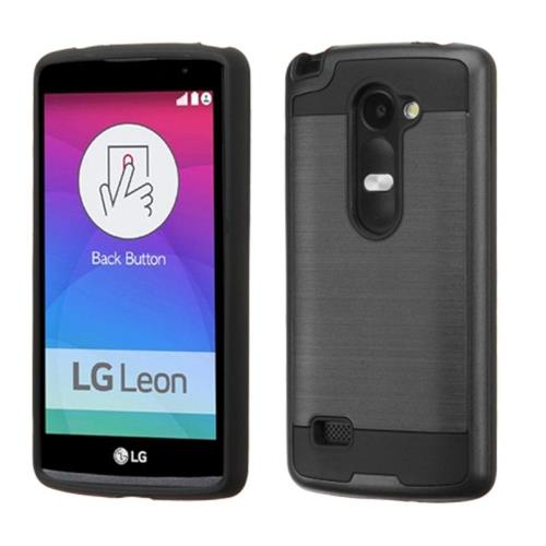 Insten Fitted Soft Shell Case for LG Leon / Risio / Tribute 2 - Black