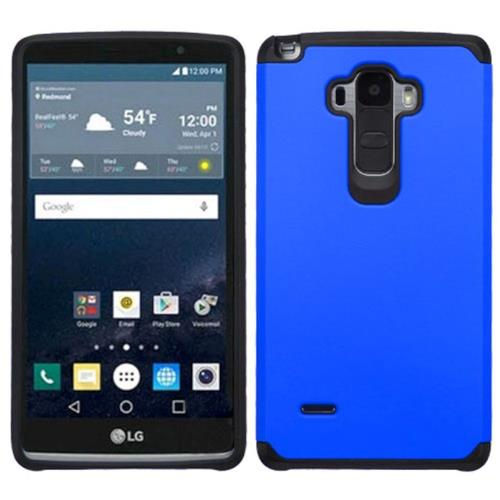 Insten Hard Hybrid Rubber Coated Silicone Cover Case For LG G Stylo, Blue/Black