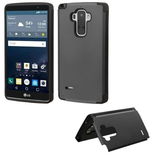 Insten Hard Rubberized Case w/card holder For LG G Stylo, Black