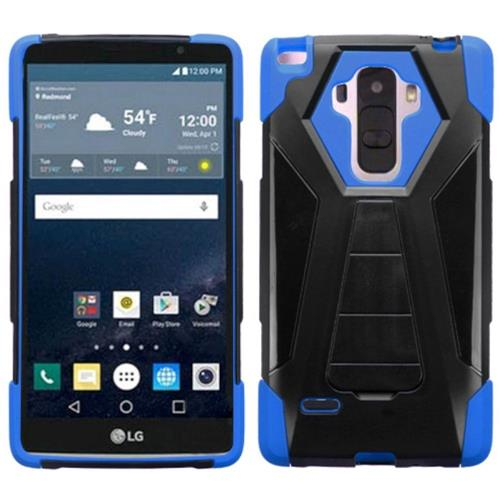 Insten Hard Dual Layer Plastic Silicone Cover Case w/stand For LG G Stylo, Black/Blue