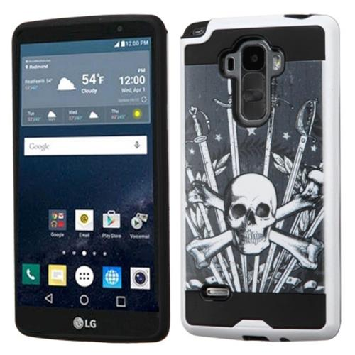 Insten Sword & Skull Hard Hybrid Silicone Case For LG G Stylo, Black/White