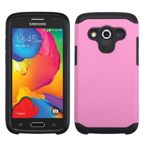 Insten Hard Dual Layer Silicone Cover Case For Samsung Galaxy Avant, Pink/Black