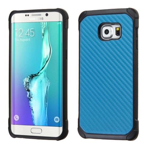 Insten Hard Dual Layer Silicone Cover Case For Samsung Galaxy S6 Edge Plus, Blue/Black