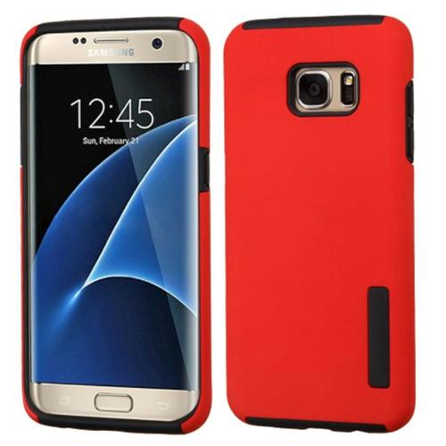 Insten Fitted Soft Shell Case for Samsung Galaxy S7 Edge - Red/Black