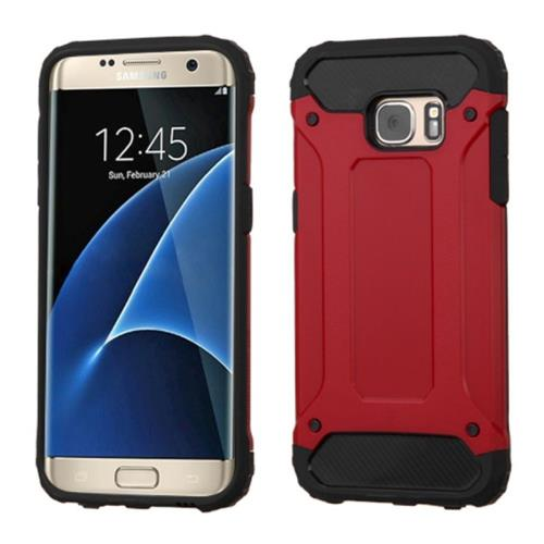 Insten Hard Hybrid Silicone Case For Samsung Galaxy S7 Edge, Red/Black