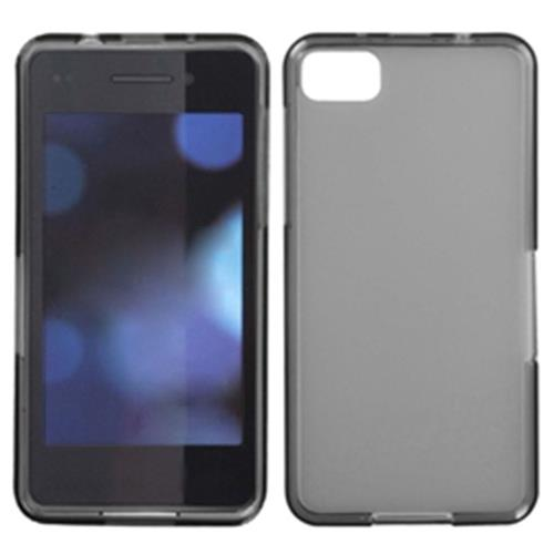 Insten Jelly Rubber Clear Cover Case For BlackBerry Z10, Smoke
