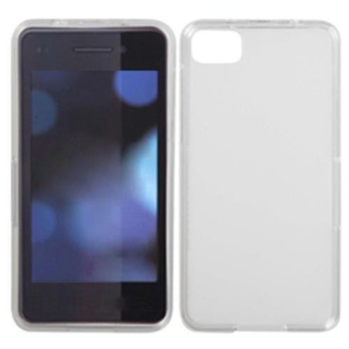 Insten Jelly Gel Transparent Cover Case For BlackBerry Z10, White