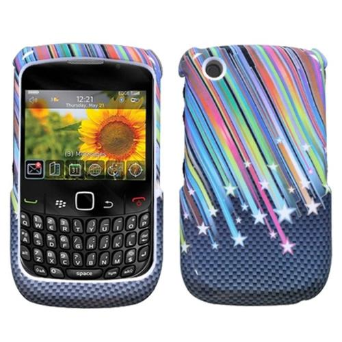 Insten Carbon Star Hard Case For BlackBerry Curve 8520/8530/9300 3G/9330 3G, Colorful