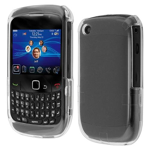 Insten Hard Rubberized Case For BlackBerry Curve 8520/8530/9300 3G/9330 3G, Clear