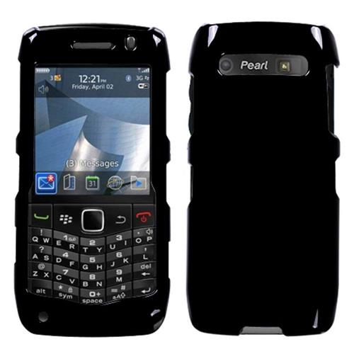 Insten Hard Rubber Cover Case For BlackBerry Pearl 9100 3G / Pearl 2/9105 3G / Pearl 2, Black