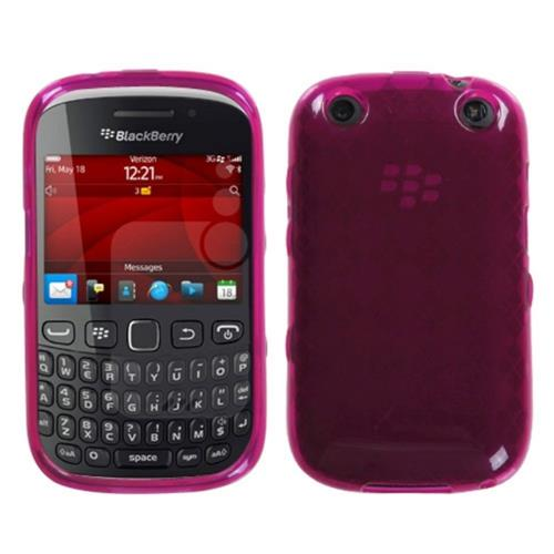 Insten Argyle TPU Transparent Cover Case For BlackBerry Curve 9310 / 9315, Hot Pink