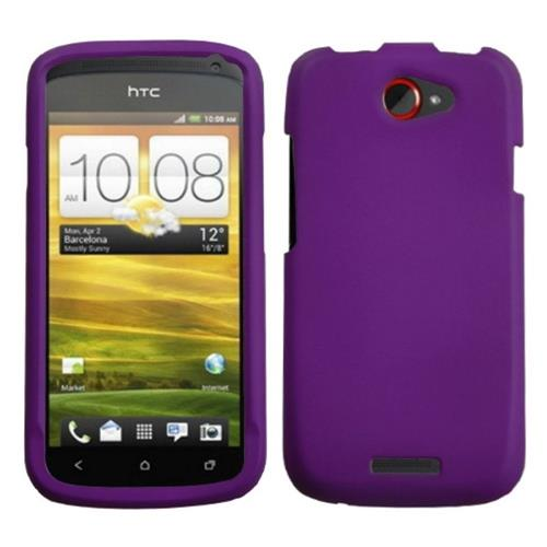 Insten Hard Rubber Case For HTC One S, Purple