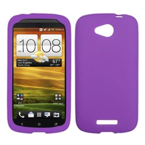 Insten Rubber Case For HTC One VX, Purple